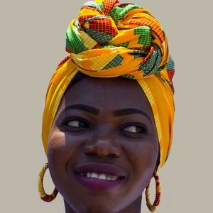 Matching Set: Africa Head Wrap & Small Earrings -4